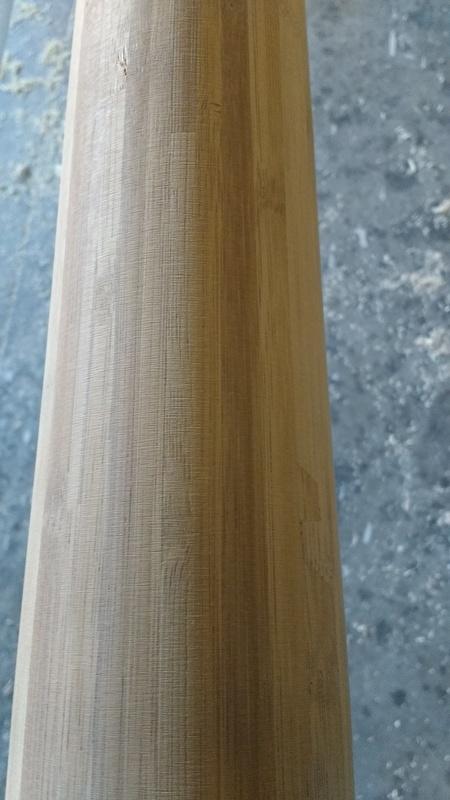 Vlaggenmast van bamboe hout